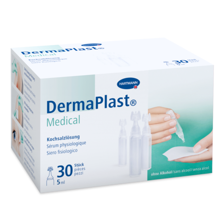 Packshot DermaPlast® Medical Kochsalzlösung